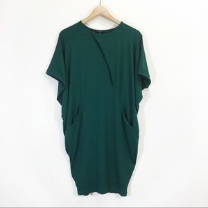 COS Tunic Draped Dress Size XS Forest Green